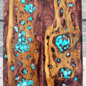 Copper Turquoise Exotic Knife Handles P2