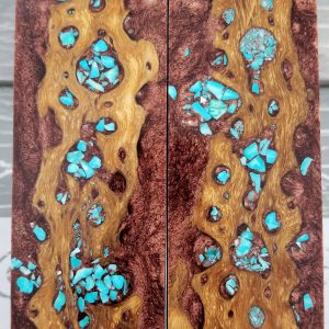 Copper Turquoise Exotic Knife Handles P3
