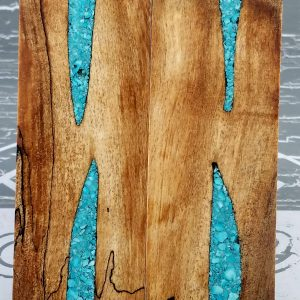 Black Spalted Maple Turquoise P3