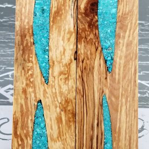 Black Spalted Maple Turquoise P5