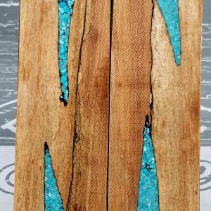 Black Spalted Maple Turquoise P6