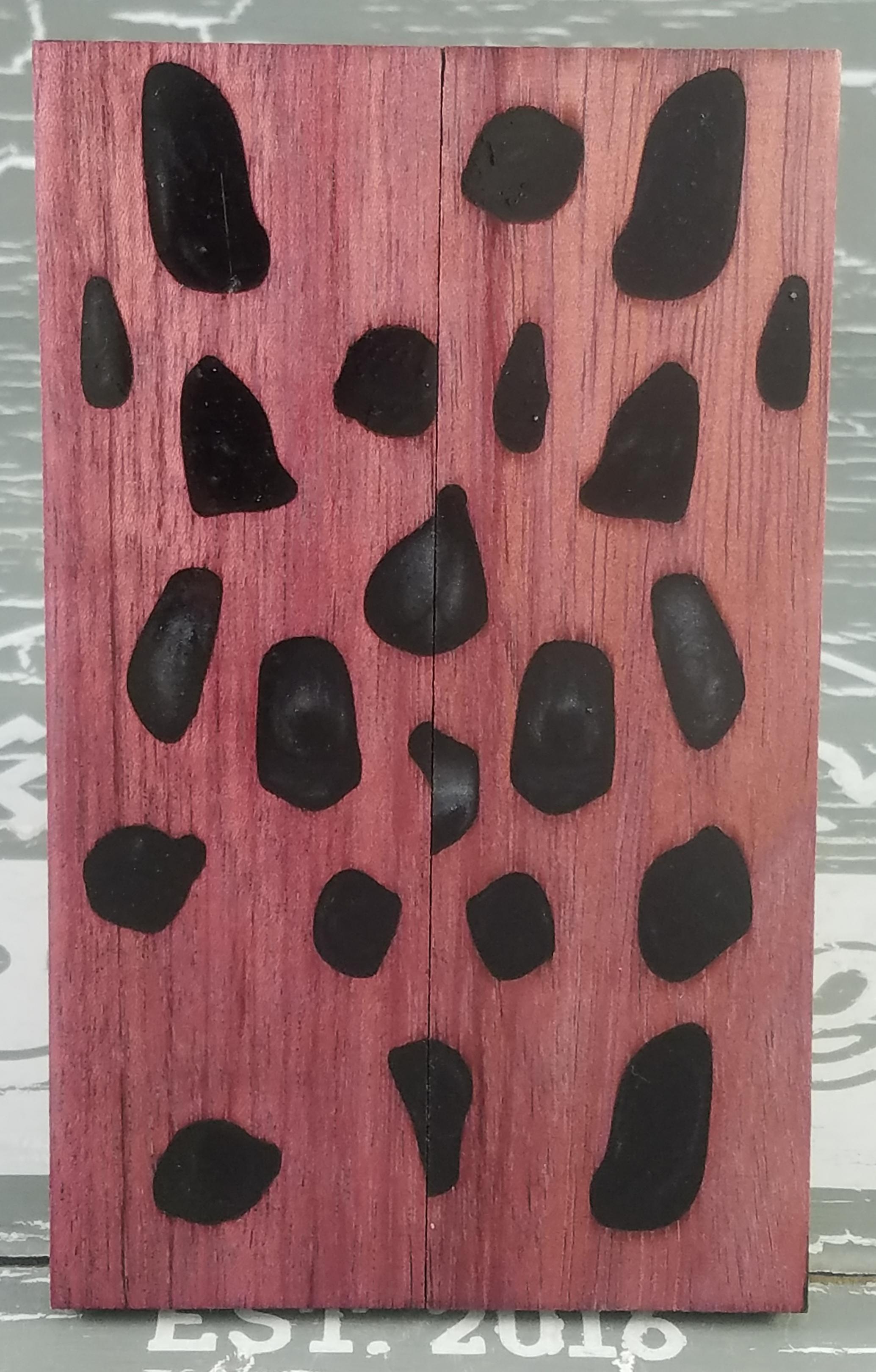 Black Cactus Wood Knife Scales Knife Handle Blank Handle Material Exotic  Knife Handle P2