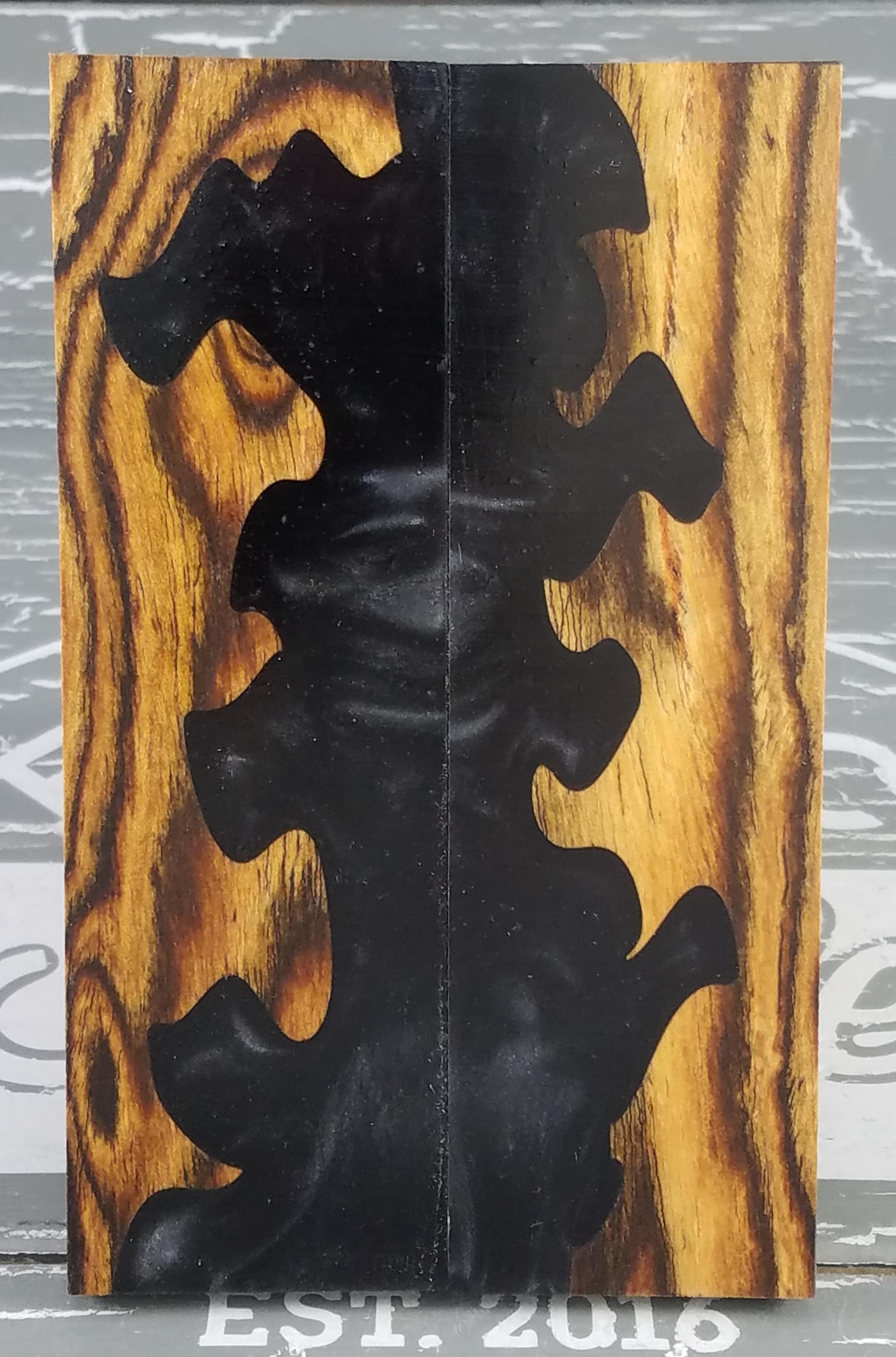 Black Totem Wood Knife Scales Knife Handle Blank Handle Material Exotic  Knife Handle P2