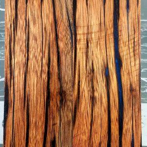 Panama Blue Flame Wood Knife Scales Knife Handle Blank